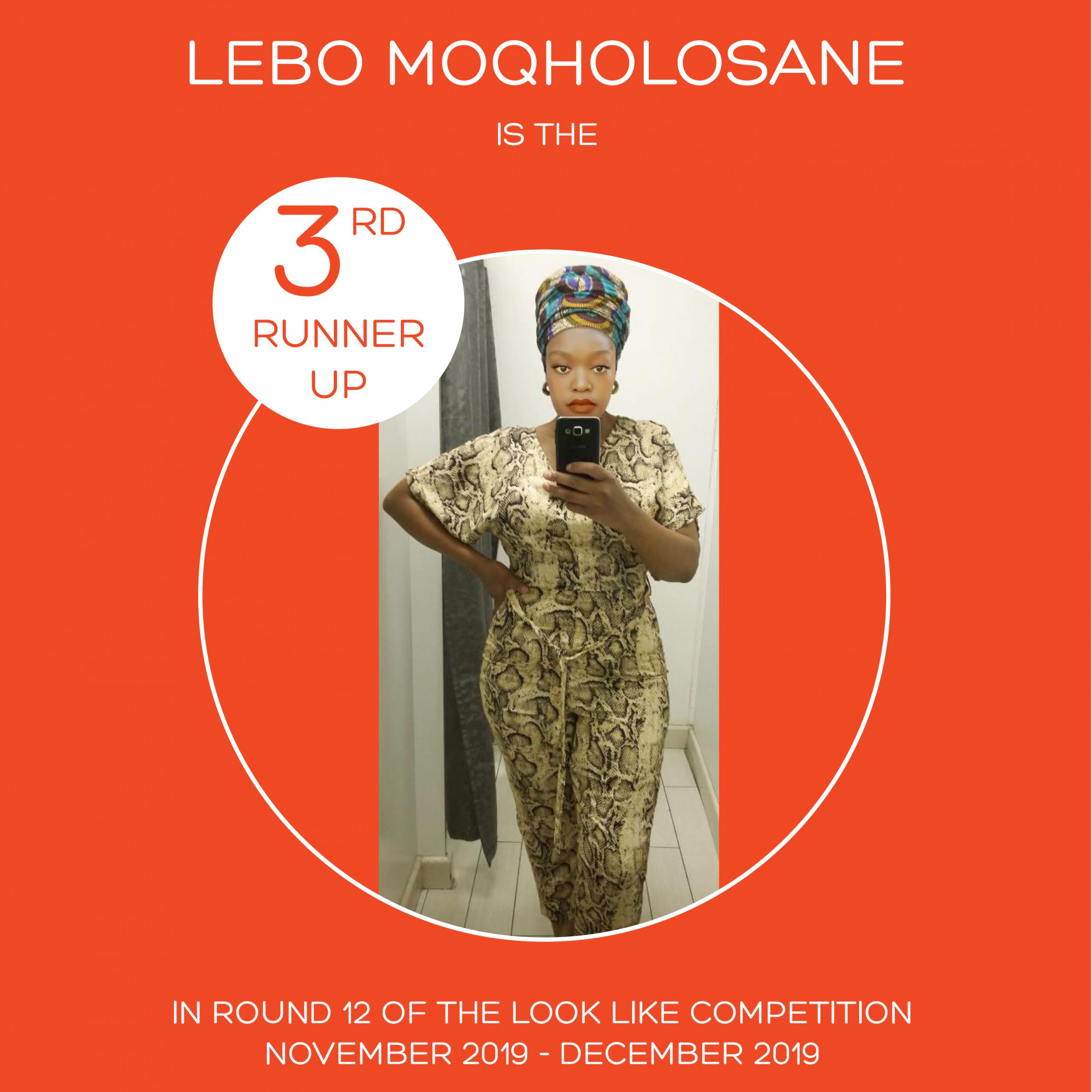 ROUND 12 – FLASH FASHION ROUND – 3RD RUNNER UP – PALESA LEBEKO