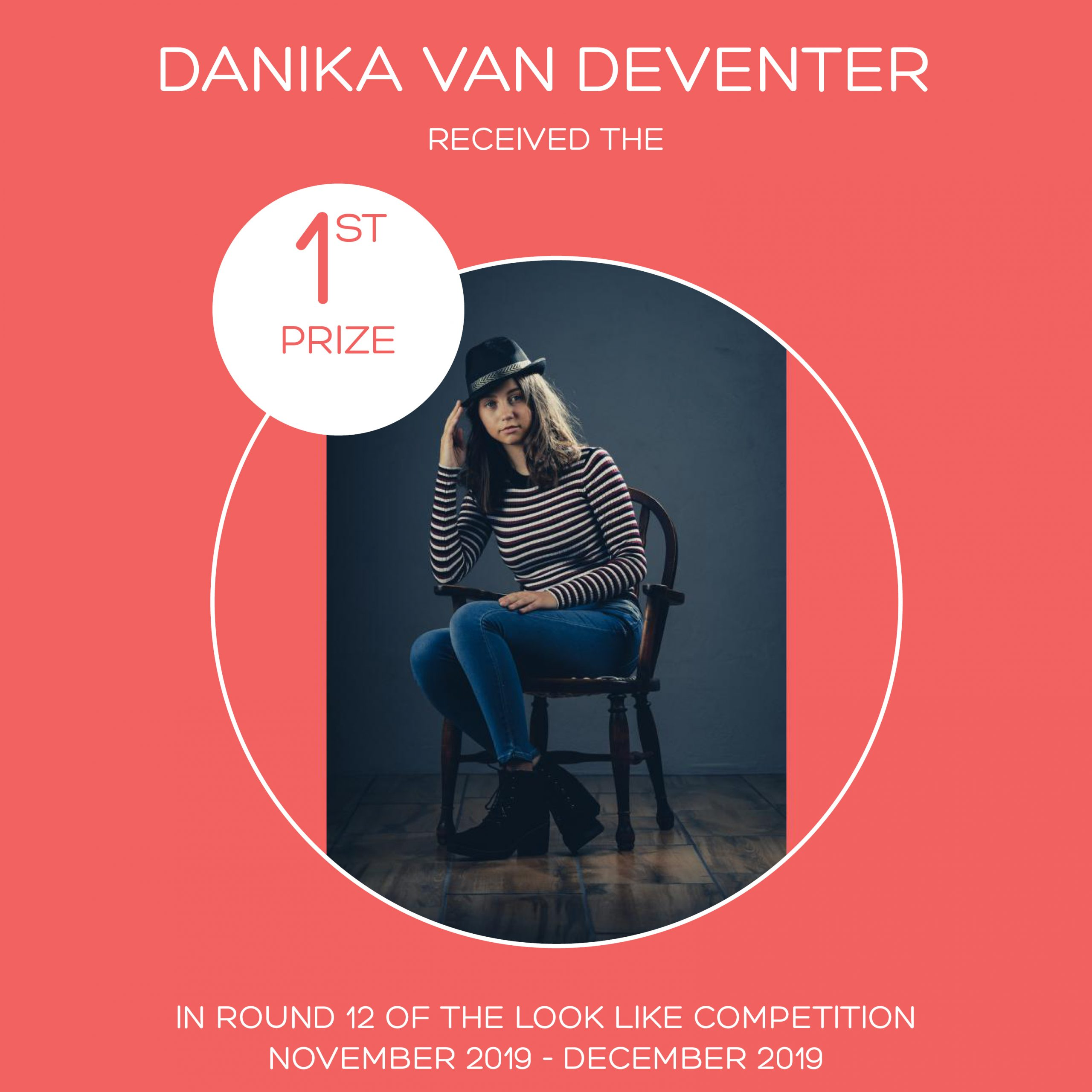 ROUND 12 – FLASH FASHION ROUND – 1ST PRIZE – DANIKA VAN DEVENTER